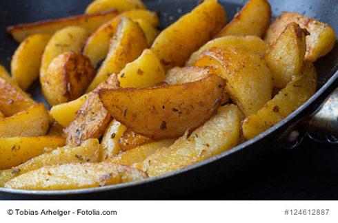 Bratkartoffeln in der Bratpfanne
