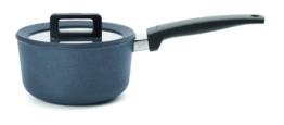 Woll 918CPI Guss Topf Concept Plus Stielkasserolle für Induktion 18 cm, 9.5 cm hoch mit Deckel, 2 L mit festen Griff - 1